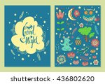 good night. set of vector... | Shutterstock .eps vector #436802620