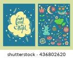 good night. set of vector... | Shutterstock .eps vector #436802620