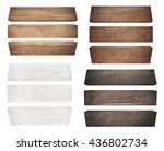 old wood plank  isolated on...   Shutterstock . vector #436802734