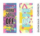 set of sale banners promotion... | Shutterstock .eps vector #436804624