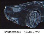 racing car hologram wireframe.... | Shutterstock . vector #436812790