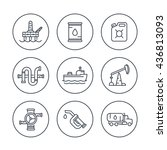 petroleum industry line icons ... | Shutterstock .eps vector #436813093