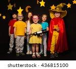 six kids in stargazers costumes ... | Shutterstock . vector #436815100