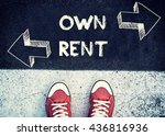 student standing above the sign ... | Shutterstock . vector #436816936