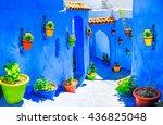 beautiful blue medina of... | Shutterstock . vector #436825048