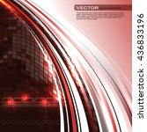 abstract shiny background. red... | Shutterstock .eps vector #436833196