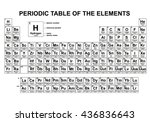 periodic table of the elements  ...   Shutterstock .eps vector #436836643