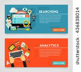 searching and analytics concept | Shutterstock .eps vector #436838014