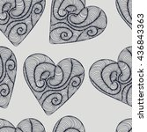 seamless heart pattern   Shutterstock .eps vector #436843363