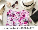 women summer accessories  dress ...   Shutterstock . vector #436844470