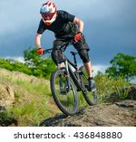 professional cyclist riding the ... | Shutterstock . vector #436848880