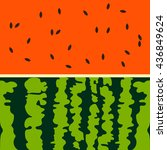 vector background of watermelon. | Shutterstock .eps vector #436849624