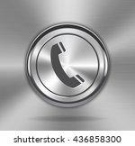 metallic phone sign on shiny...