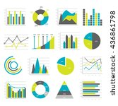 colored and isolated graphs... | Shutterstock .eps vector #436861798