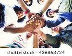 people friendship brainstorming ... | Shutterstock . vector #436863724