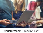 connection students networking... | Shutterstock . vector #436864459
