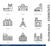 european capitals  part 1   ... | Shutterstock .eps vector #436865653