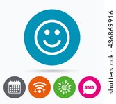 wifi  sms and calendar icons.... | Shutterstock . vector #436869916