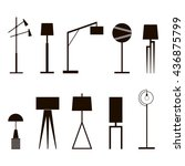 a set of vector silhouettes of... | Shutterstock .eps vector #436875799