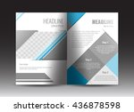 corporate brochure template... | Shutterstock .eps vector #436878598