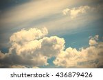 sky clouds landscape with copy... | Shutterstock . vector #436879426