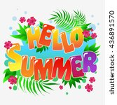 hello summer. typography art... | Shutterstock . vector #436891570