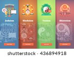 set of religion icons.... | Shutterstock .eps vector #436894918