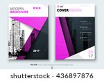 pink cover design for brochure. ... | Shutterstock .eps vector #436897876