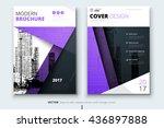 purple cover design for... | Shutterstock .eps vector #436897888