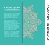 vector nature decor for your... | Shutterstock .eps vector #436900930