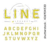 stroke thin line alphabet in...   Shutterstock .eps vector #436904530