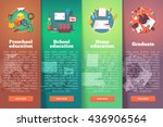 steps of educational process.... | Shutterstock .eps vector #436906564