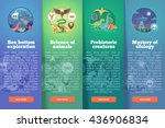 sea bottom exploration. zoology ... | Shutterstock .eps vector #436906834