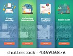 education and science vertical... | Shutterstock .eps vector #436906876