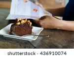 toffee cake | Shutterstock . vector #436910074