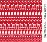 christmas seamless pattern ... | Shutterstock .eps vector #436913194