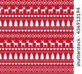 christmas seamless pattern ... | Shutterstock .eps vector #436913194