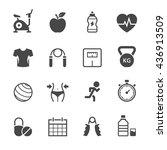 fitness icons. | Shutterstock .eps vector #436913509