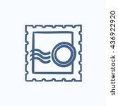 philately vector sketch icon... | Shutterstock .eps vector #436922920