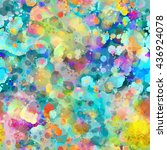 cute abstract seamless... | Shutterstock .eps vector #436924078