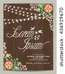 wedding invitation card with... | Shutterstock .eps vector #436929670
