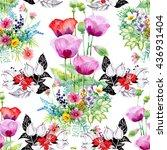 seamless pattern on white... | Shutterstock . vector #436931404