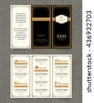 vintage restaurant menu design... | Shutterstock .eps vector #436932703