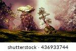 3d illustration of landscape... | Shutterstock . vector #436933744