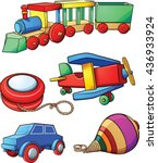 retro cartoon toys. vector clip ... | Shutterstock .eps vector #436933924