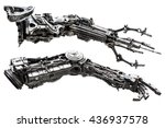 metallic robot hand made from... | Shutterstock . vector #436937578