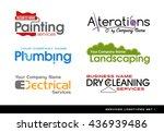 set of logos logotypes for... | Shutterstock .eps vector #436939486