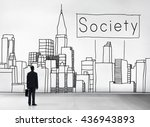 society community unity network ... | Shutterstock . vector #436943893