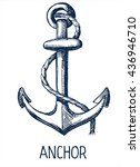 anchor hand drawn vector... | Shutterstock .eps vector #436946710