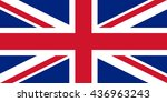 flag of united kingdom.vector... | Shutterstock .eps vector #436963243